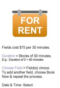 soccer fields for rent