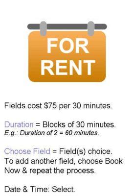 soccer fields for rent
